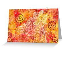 Giraffe abstract watercolor Greeting Card