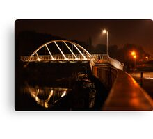 Foot and cycle bridge over the river Cam Canvas Print