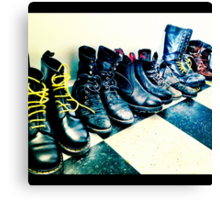 Plenty o' Boots Canvas Print