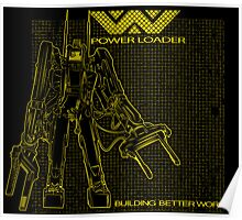 Powerloader Blueprint (yellow) Poster