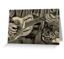 """ The Guitar Man "" Greeting Card"