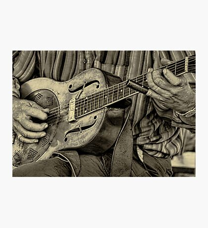 """ The Guitar Man "" Photographic Print"