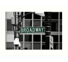 Broadway sign New York Art Print