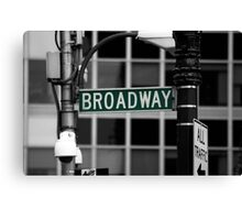 Broadway sign New York Canvas Print