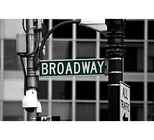 Broadway sign New York Photographic Print
