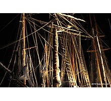 Night Rigging Photographic Print