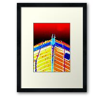 Red Sky At Night, Sailor's Delight Framed Print
