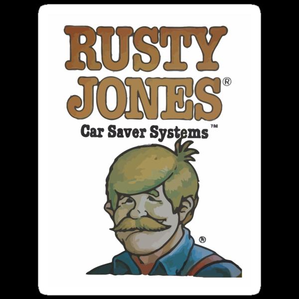 Rusty Jones Rust Prevention HiFi Sticker Print by chapel976