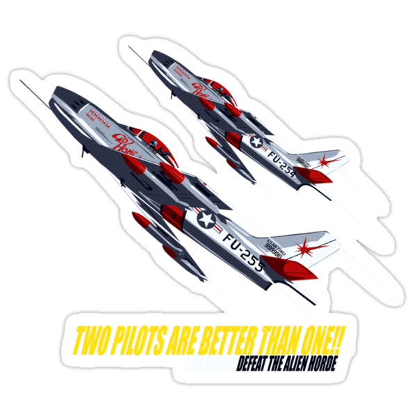Two Pilots Are Better Than One - Wings by Crocktees
