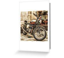 Triumph Bonneville T100 Greeting Card