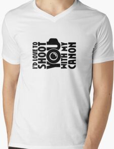 Love To Shoot You Mens V-Neck T-Shirt