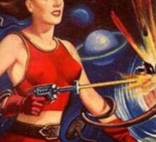 Women with Ray Guns Sticker
