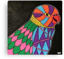Abstract bird colorful design Canvas Print