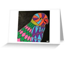Abstract bird colorful design Greeting Card