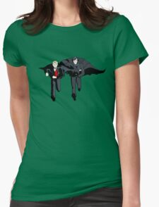 Hatman and Robin Womens Fitted T-Shirt