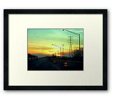 Interstate Going West Framed Print