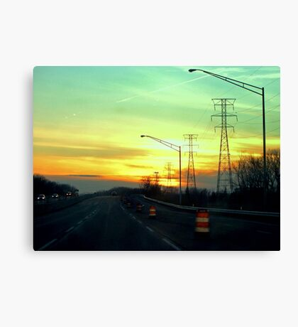 Interstate Going West Canvas Print