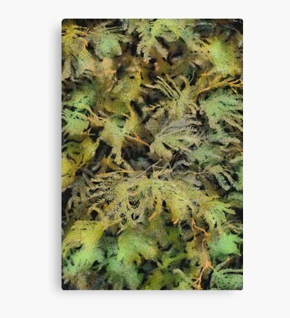 Painterly Leaves Canvas Print
