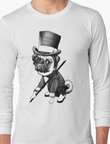 Pug Fred Astaire Long Sleeve T-Shirt