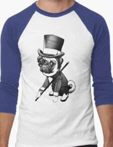 Pug Fred Astaire Men's Baseball ¾ T-Shirt