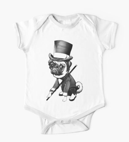 Pug Fred Astaire One Piece - Short Sleeve