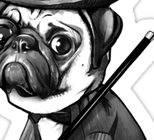 Pug Fred Astaire Sticker