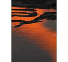 Sunset reflections in rock pool Photographic Print