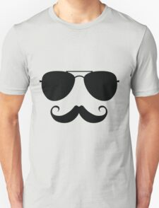 Aviator Stache Unisex T-Shirt