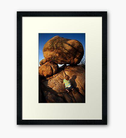 Rock Toddler Framed Print