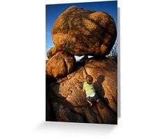 Rock Toddler Greeting Card