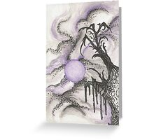 Tree in Moonlight Greeting Card