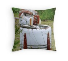very old washing machine Throw Pillow
