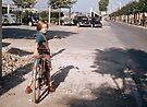 Girl on bike Sevran  19570919 0009  by Fred Mitchell