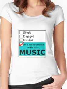 In A Relationship With My Music Women's Fitted Scoop T-Shirt