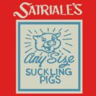 Satriale&#x27;s Any Size Suckling Pigs Sign Design by PureOfArt