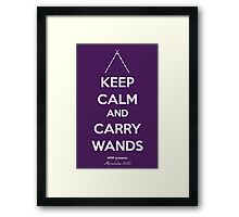 Keep Calm and Carry Wands Framed Print
