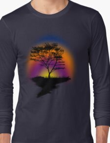 Sunset Trees Long Sleeve T-Shirt