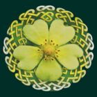 Yellow Wildflower Celtic Knot Shirt by bloomingvine