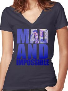 Mad and Impossible Women's Fitted V-Neck T-Shirt