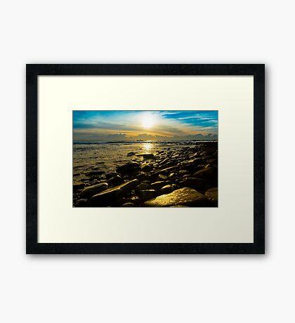 Shiny Rocks Framed Print