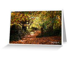 Autumn in Daylesford Greeting Card