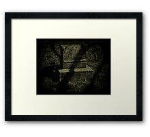 Here lies David Tritt 1854-1929 Framed Print