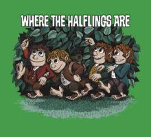 Where the Halflings Are Kids Tee