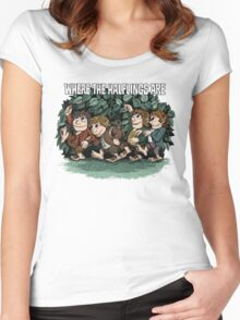 Where the Halflings Are Women's Fitted Scoop T-Shirt