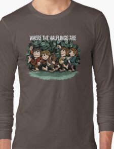 Where the Halflings Are Long Sleeve T-Shirt