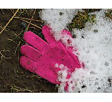 Lost: One Pink Glove Photographic Print