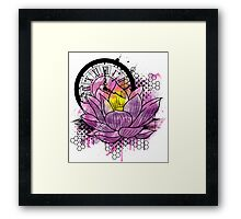 A Tranquil Time - Abstract Lotus Framed Print