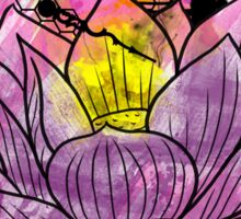 A Tranquil Time - Abstract Lotus Sticker