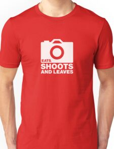Eats, shoots & Leaves white T-Shirt
