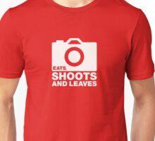 Eats, shoots & Leaves white Unisex T-Shirt